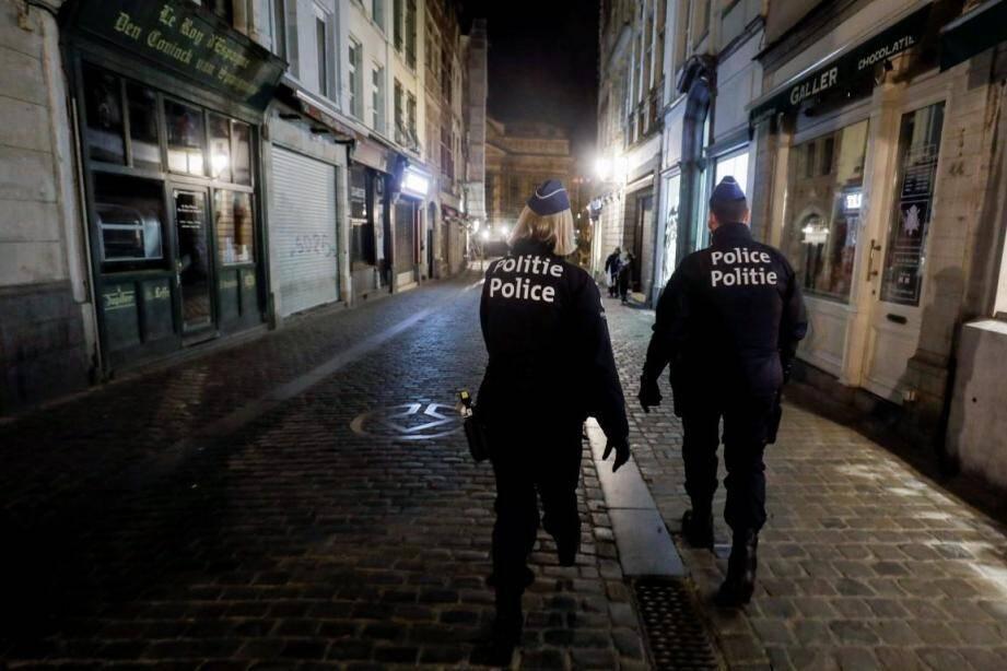 La police belge.