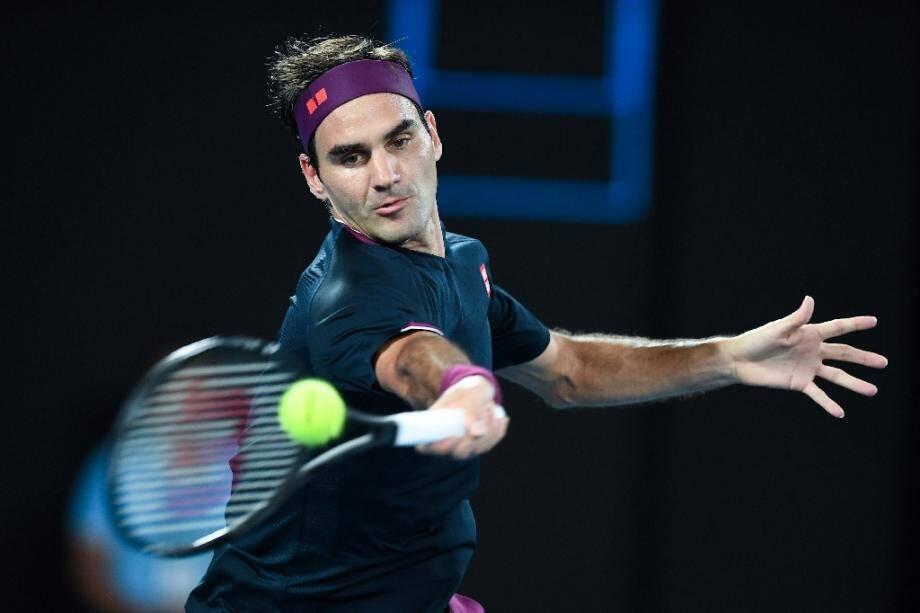 Roger Federer à l'Open d'Australie le 30 janvier 2020 à Melbourne