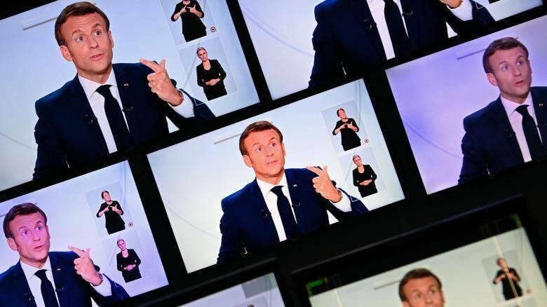 Le président Emmanuel Macron (illustration) lors d'un discours le 14 octobre 2020.