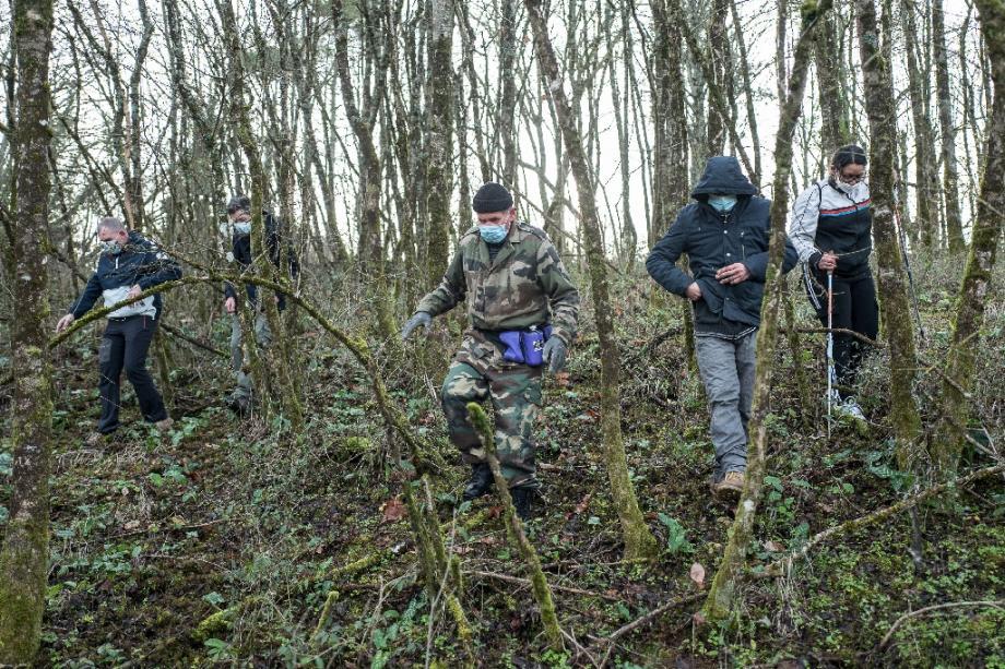 Battue à Cagnac-les-mines (Tarn) le 23 décembre 2020 pour retrouver une mère de famille disparue dans la nuit du 15 au 16 décembre