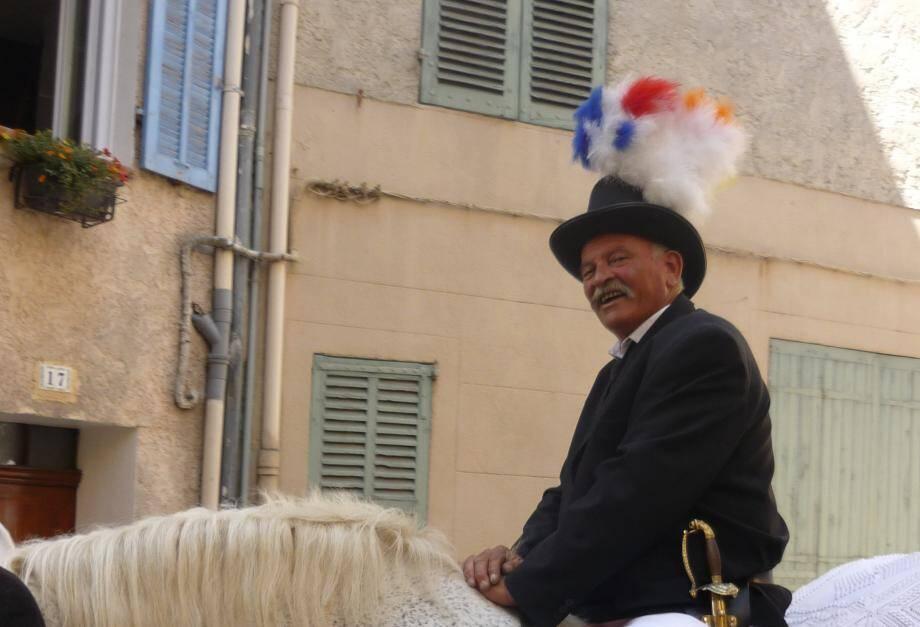 "Richard Chiotti, dit ""Babar"", lors de la Saint Eloi."