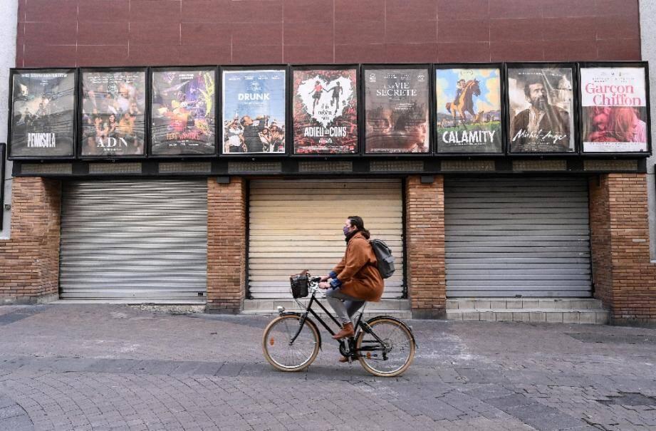 Un cinéma de Montpellier fermé le 16 novembre 2020, lors du deuxième confinement