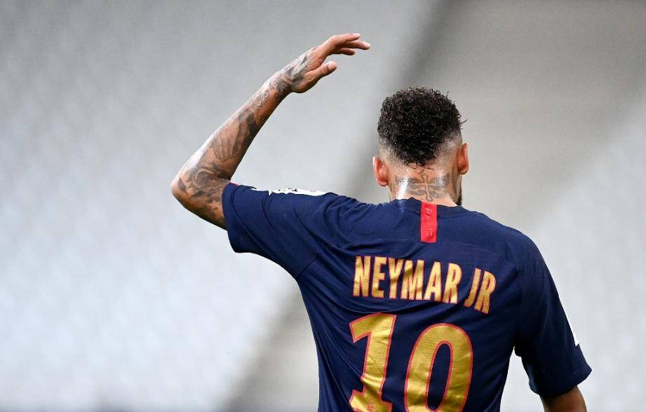 L'attaquant brésilien du Paris-SG, Neymar, lors de la finale de la Coupe de la Ligue face à Lyon, au Stade de France, le 31 juillet 2020