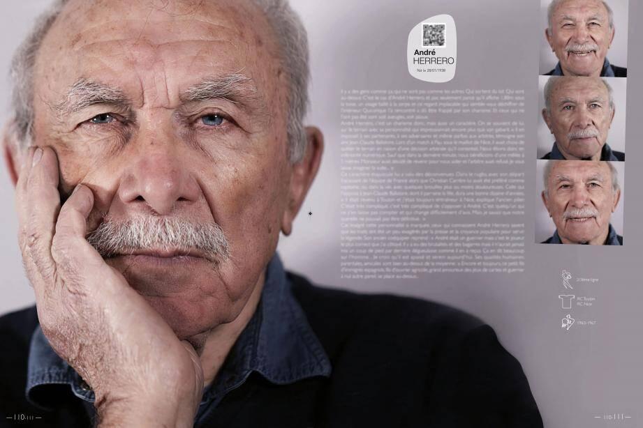Les « légendes » dont fait partie André Herrero, capitaine héroïque et fracassé du RCT lors de la finale 1971, ont droit à une double page.