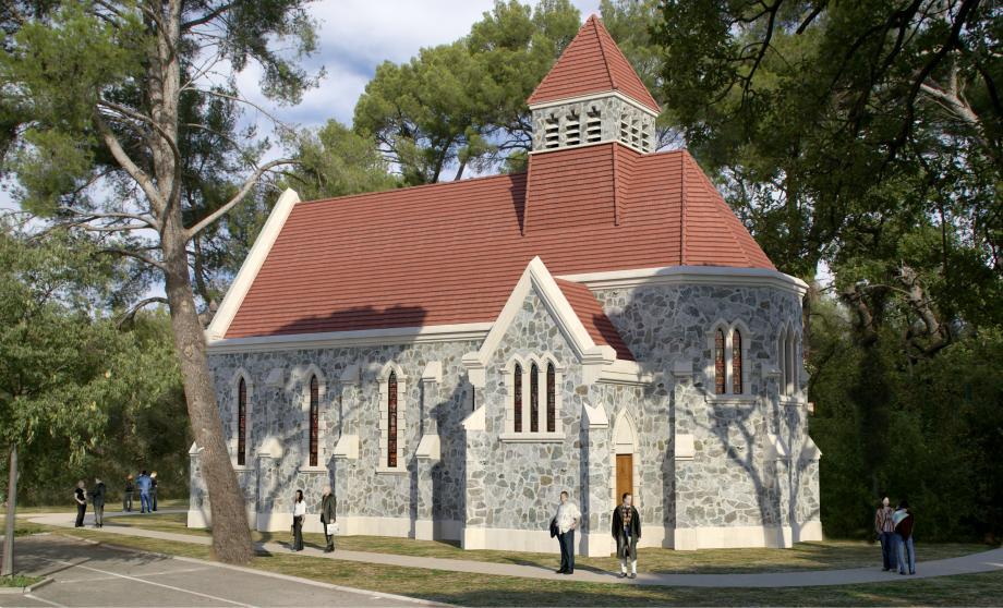 La chapelle anglicane avait été construite après le séjour de la reine Victoria en 1892. Menaçant ruine, elle va être réhabilitée.