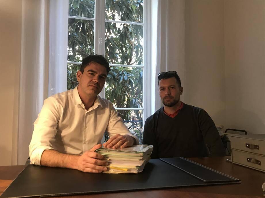 Clément Rolin (à droite) et son avocat Cyril Offenbach.
