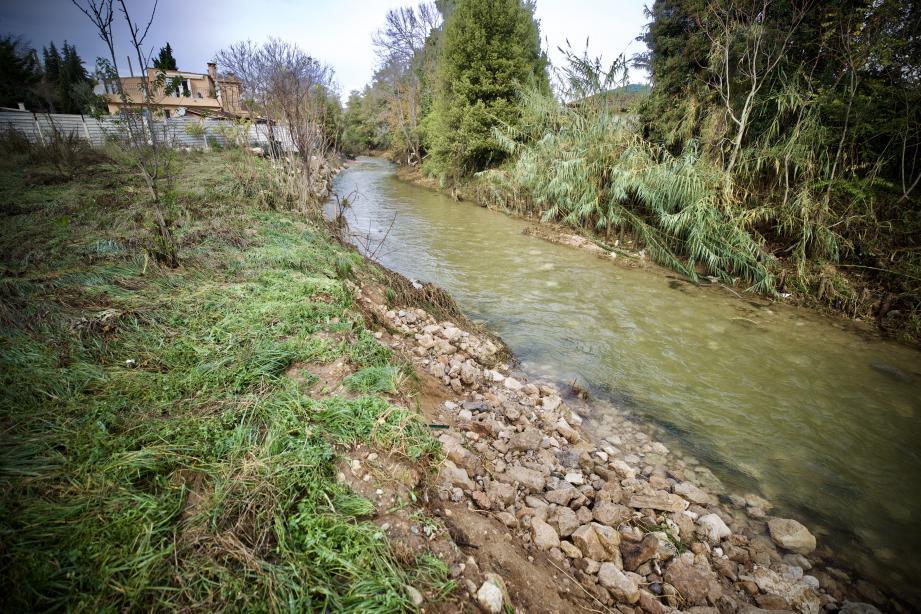 Le Clos des Moulières, à la confluence de la Valmasque et de la Brague, sera démoli cette année. Puis, commenceront les travaux de « renaturation » pour redonner toute sa place au fleuve côtier.
