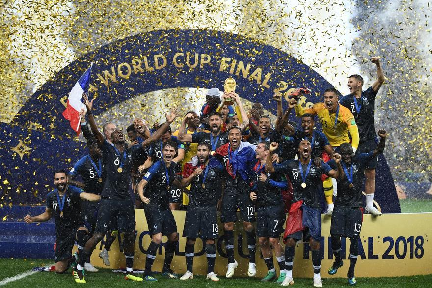 Les Bleus, champions du monde en 2018 à Moscou.