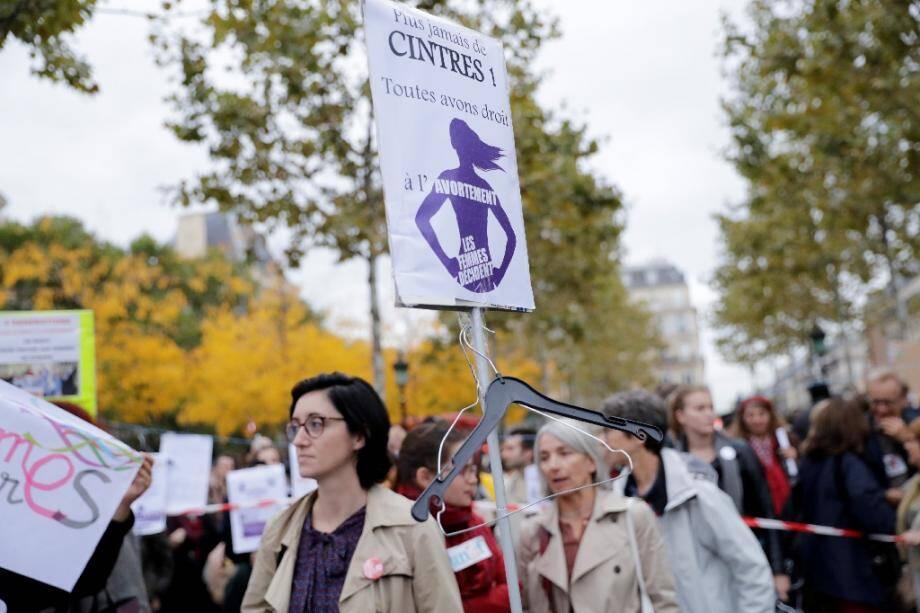 Manifestation pour le droit d'avorter le 28 septembre 2017 à Paris