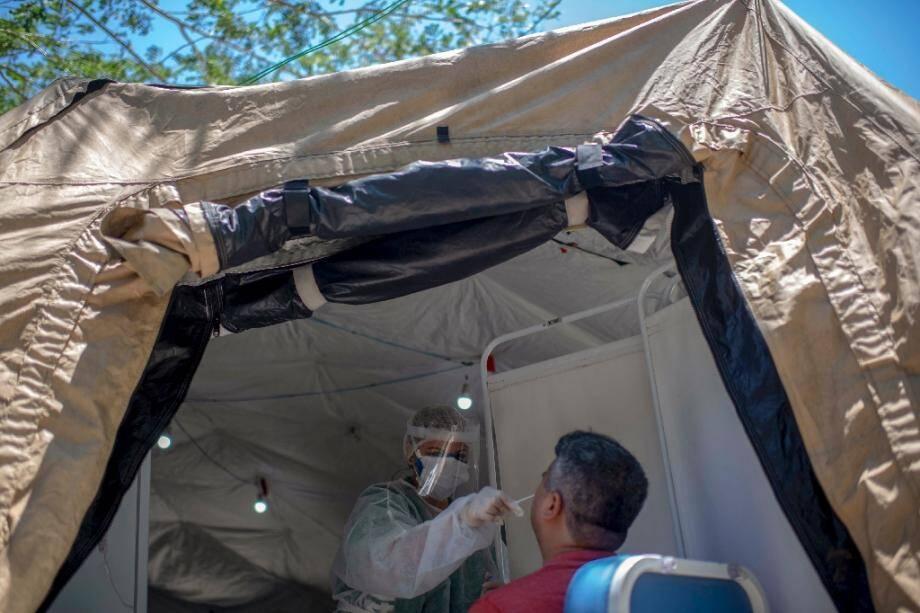 Test sur le coronavirus pratiqué à Sao Goncalo, le 4 décembre 2020
