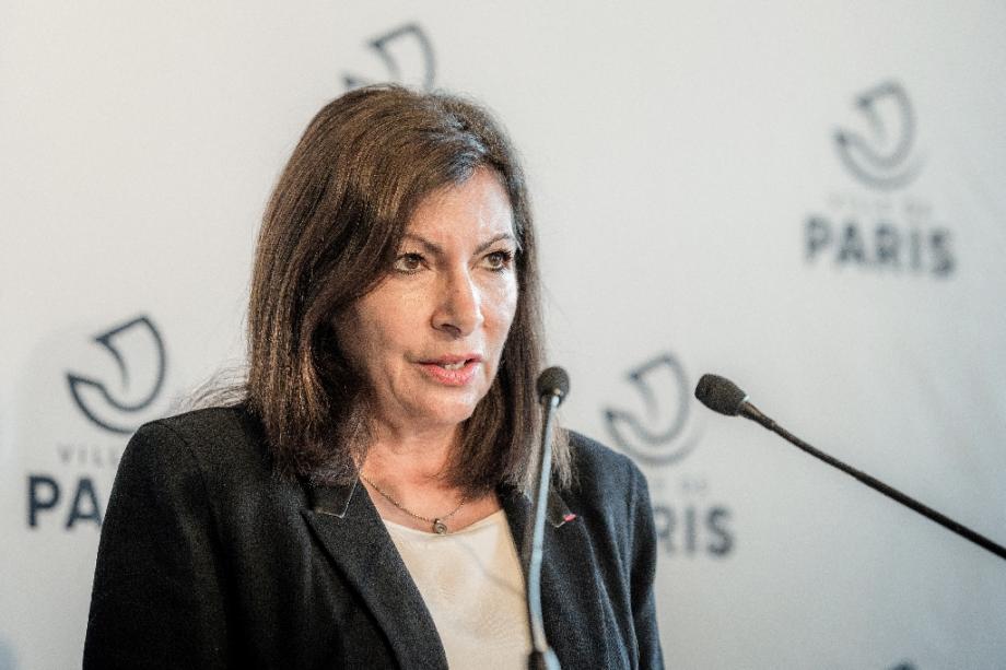 Anne Hidalgo en conférence de presse à la Mairie de Paris, le 29 octobre 2020