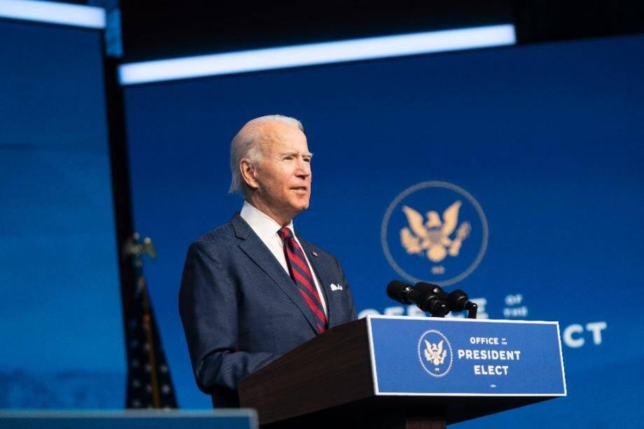 Le président américain élu Joe Biden présente son équipe climat à Wilmington, dans le Delaware, le 19 décembre 2020