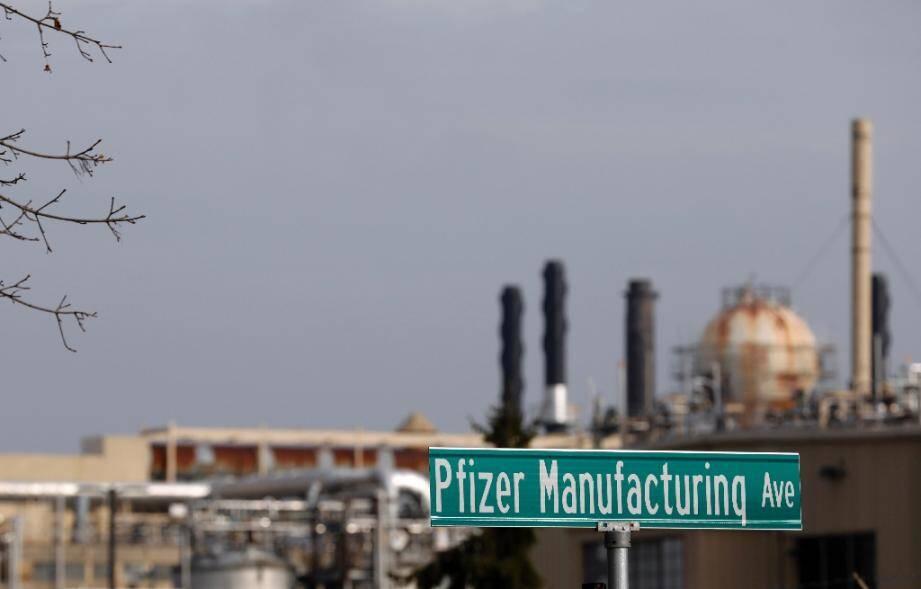 L'usine Pfizer à Kalamazoo, dans le Michigan, où est fabriqué le vaccin contre le Covid-19, le 11 décembre 2020
