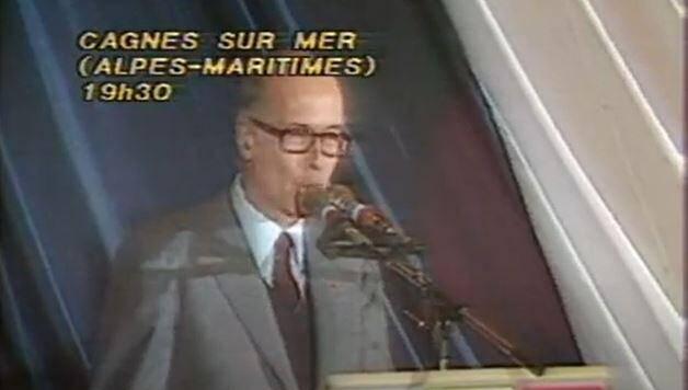 VGE en campagne à Cagnes-sur-Mer en 1981.