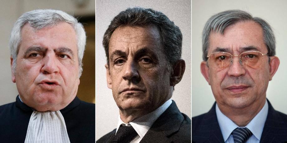 Les trois prévenus du procès : Thierry Herzog, Nicolas Sarkozy et Gilbert Azibert
