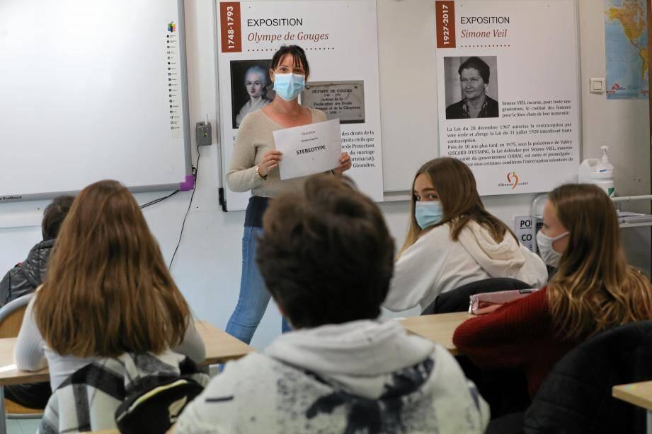 Au collège Romée de Villeneuve-Loubet, l'atelier sur les violences faites aux femmes a marqué les esprits des élèves.