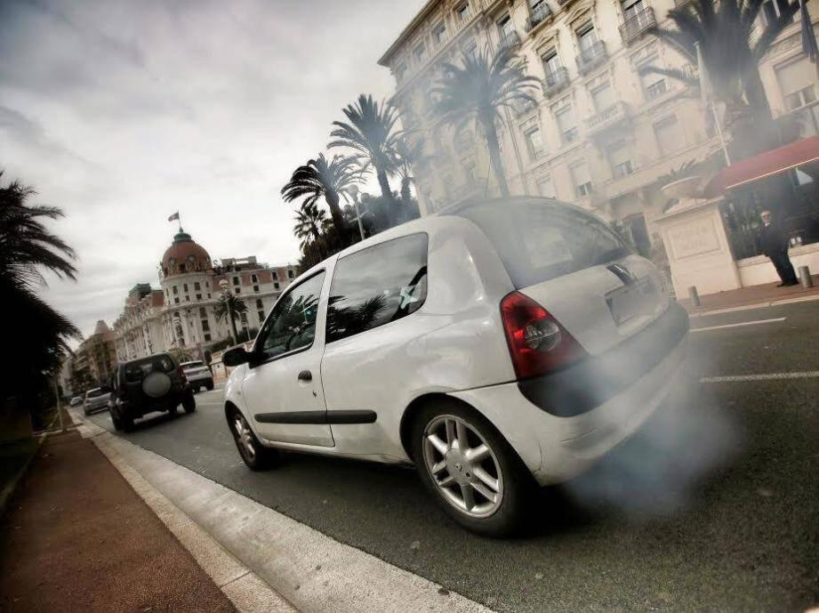 Illustration pollution à Nice.