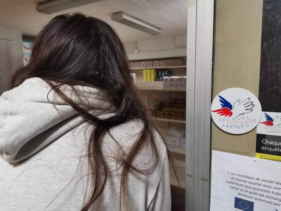 Séverine a été rassurée par les bénévoles du Secours populaire.