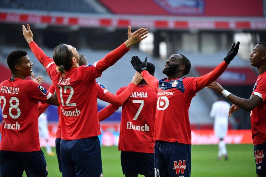 Après une première mi-temps sans but, Lille a fait la différence en début de seconde période.