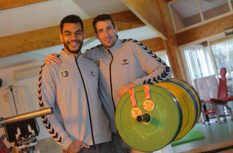 Adrien Dipanda et Raphaël Caucheteux, médaillés de bronze au championnats d'Europe 2018.