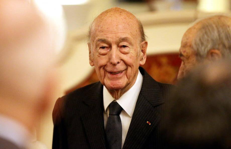 Valery Giscard d'Estaing à Monaco en 2017.