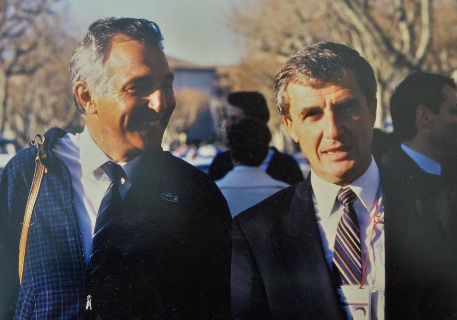 Jean-Pierre Carenso (à droite), aux côtés de son ami de toujours André Riolfo, également disparu en 2020.