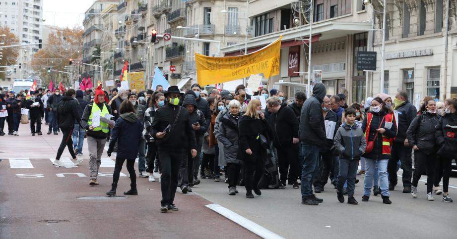 La manifestation contre la loi relative à la sécurité globale.