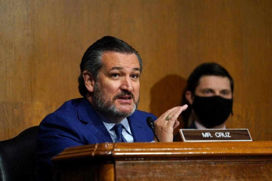 Le sénateur républicain Ted Cruz lors d'une réunion d'une commission du Sénat des Etats-Unis le 10 novembre 2020 à Washington