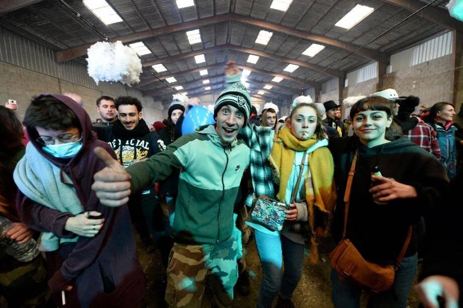 La fête sauvage organisée à Lieuron (Ille-et-Vilaine), le 1er janvier 2021