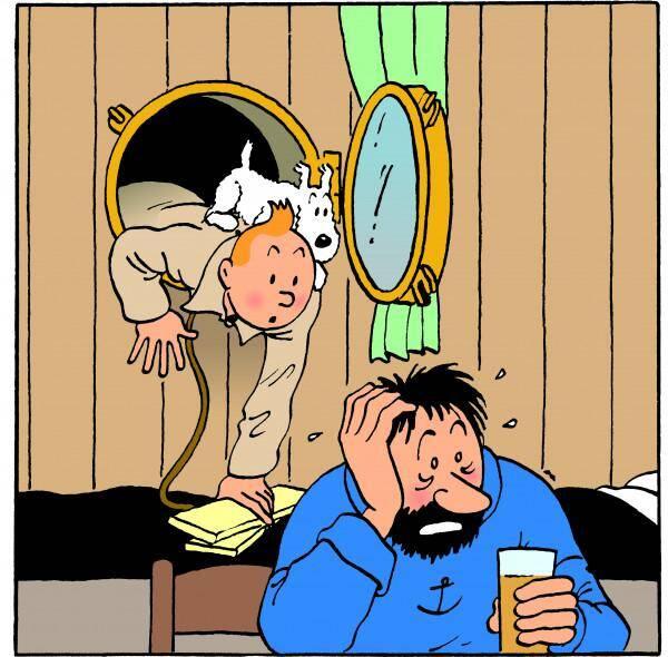 """La toute première rencontre entre Tintin et Haddock a lieu dans """"Le Crabe aux pinces d'or"""" en 1941."""