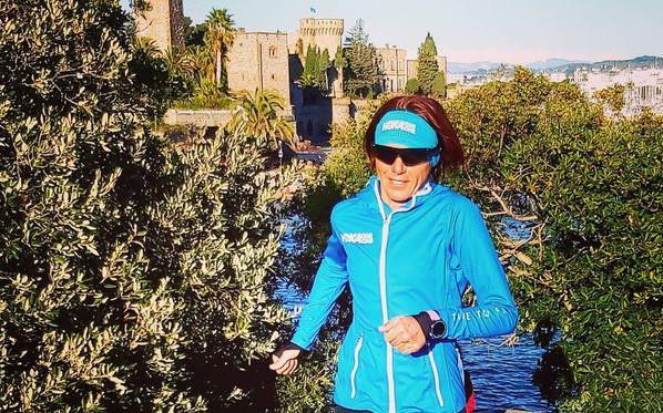 La Grassoise Céline Bousrez, triple championne de France de duathlon.