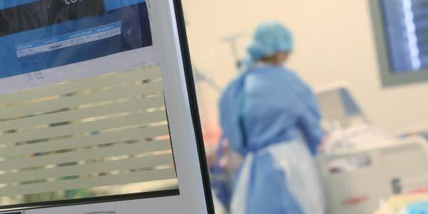 L'unité Covid-19 de l'hôpital Pasteur II à Nice.