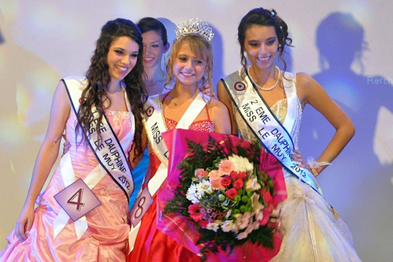 Vaiana Prost, miss 2012, entourée de ses deux dauphines Mégane Di Angelo et Julie Carnovale.