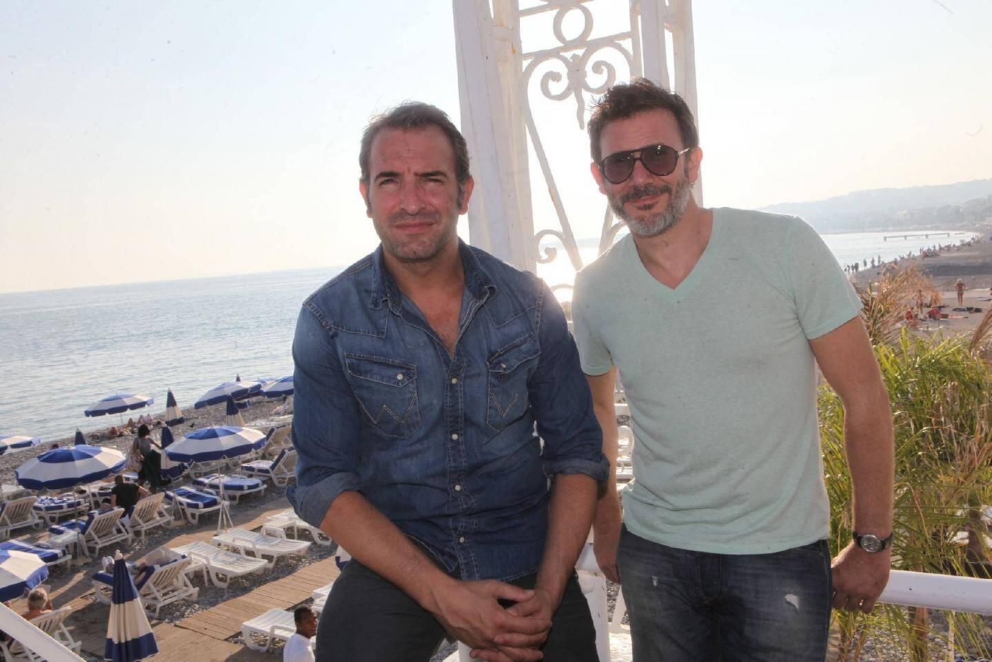Jean Dujardin (ici à Nice avec Michel Hazanavicius) bientôt de retour sur la Côte d'Azur ?