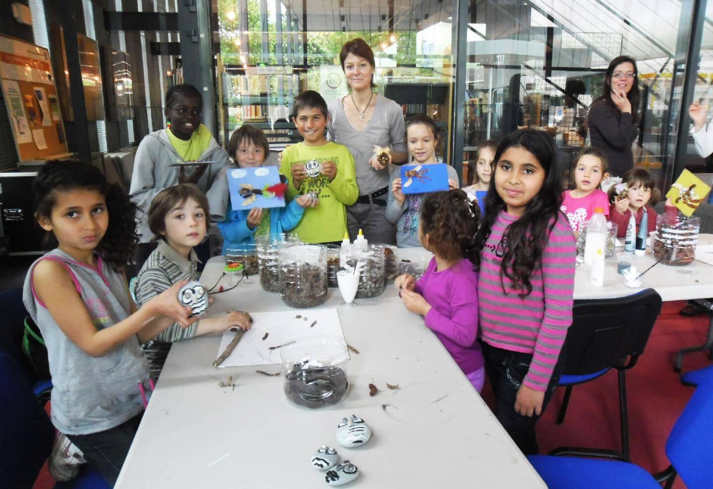 Les enfants des centres de loisirs ont inauguré hier la Fête de la nature.