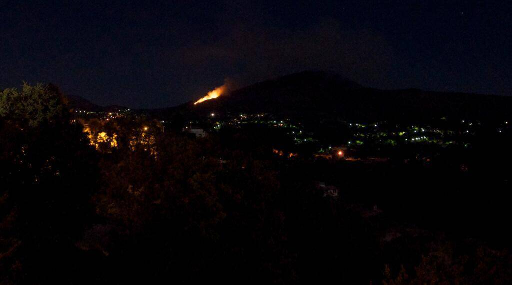 Incendie nocturne près d'Aspremont: près de 2 hectares sont partis en fumée 2