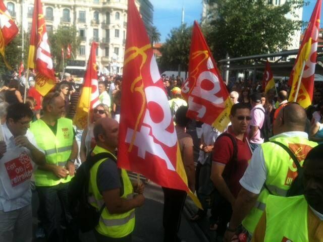 La manifestation pour les retraites à Nice ce mardi matin