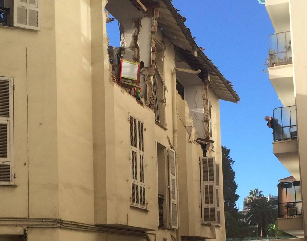 Explosion dans un immeuble à Nice