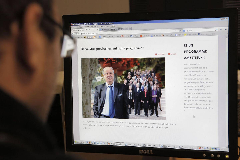 À deux semaines du premier tour des élections, le maire sortant de Vallauris, Alain Gumiel n'a toujours pas mis en ligne son programme…