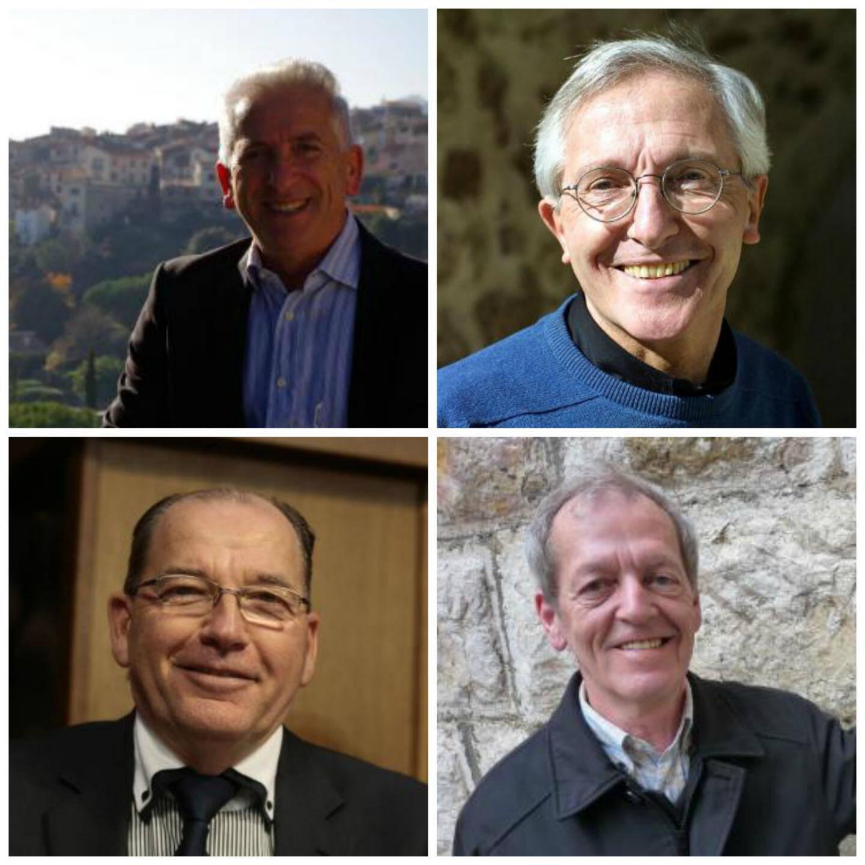Les quatre candidats à la mairie de Saint-Jeannet : Jean-Paul Hansberger, Gérard Nirascou, Jean-Michel Sempéré et Jean-Marie Thorel.