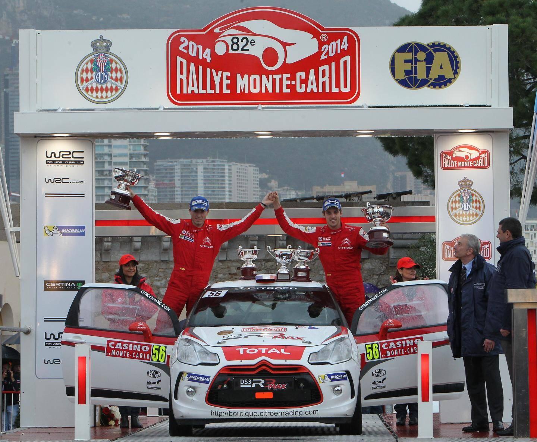 Sébastien Ogier, lauréat du rallye Monte-Carlo 2014.
