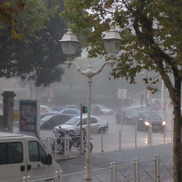 Ce vendredi matin devant le Lycée Bonaparte à Toulon.