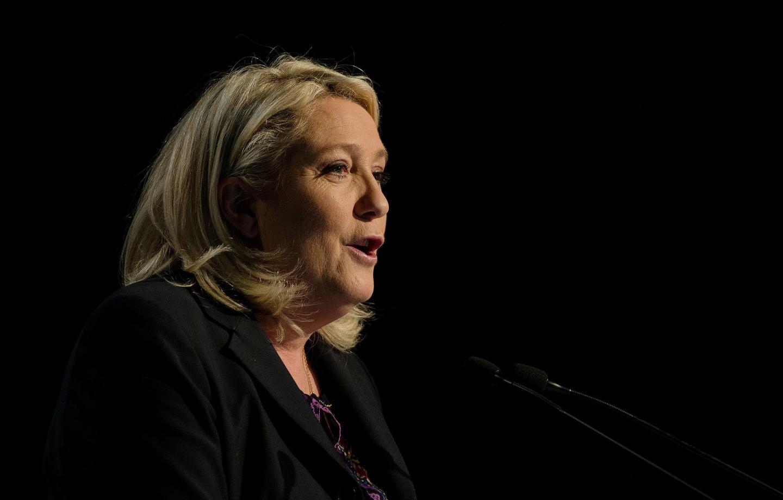 Marine Le Pen  a fustigé, hier, un « régime à l'agonie ».