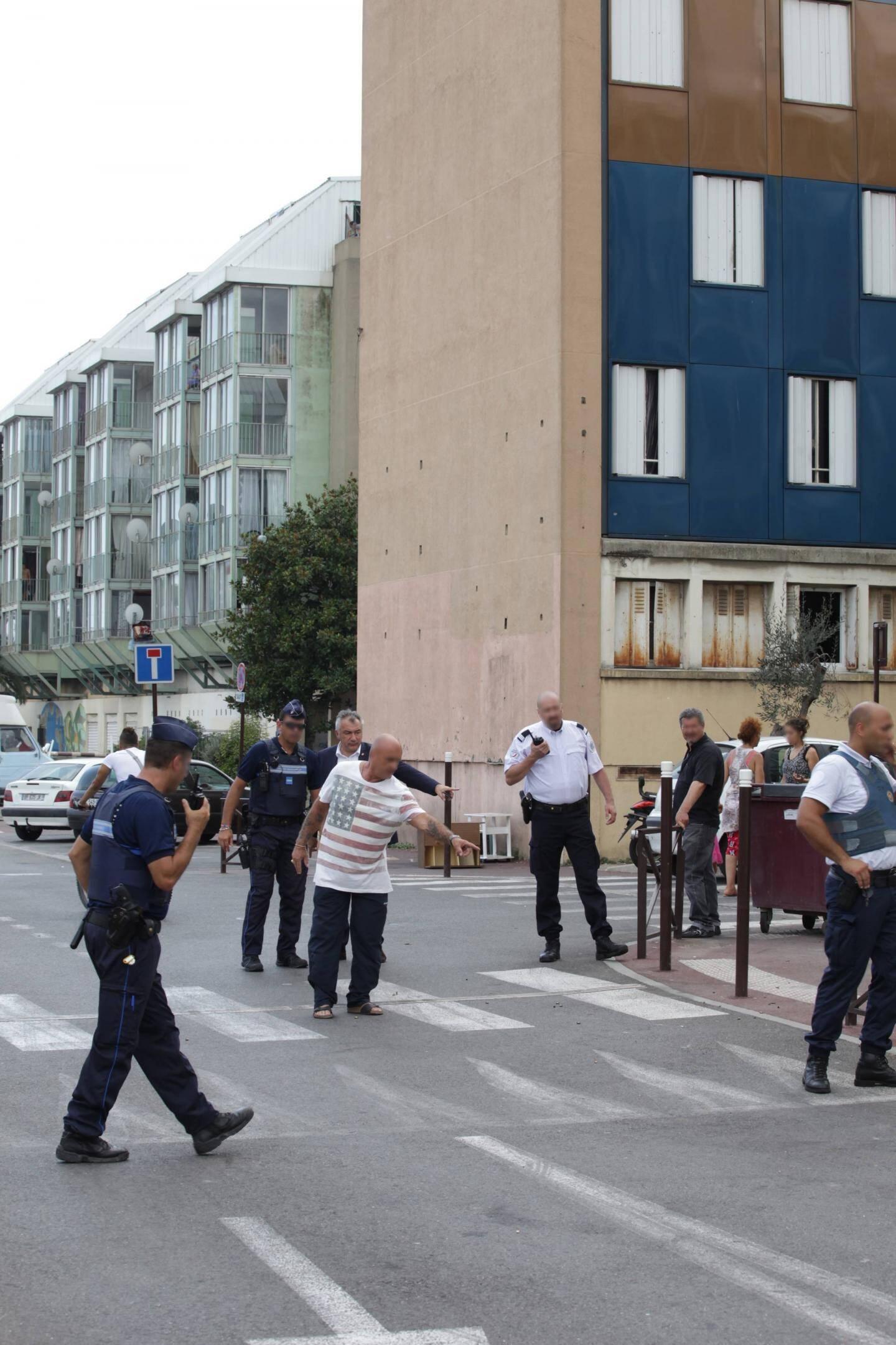 Le 23 juillet, juste après une fusillade qui a fait deux blessés légers dans ce quartier de Saint-Laurent-du-Var.