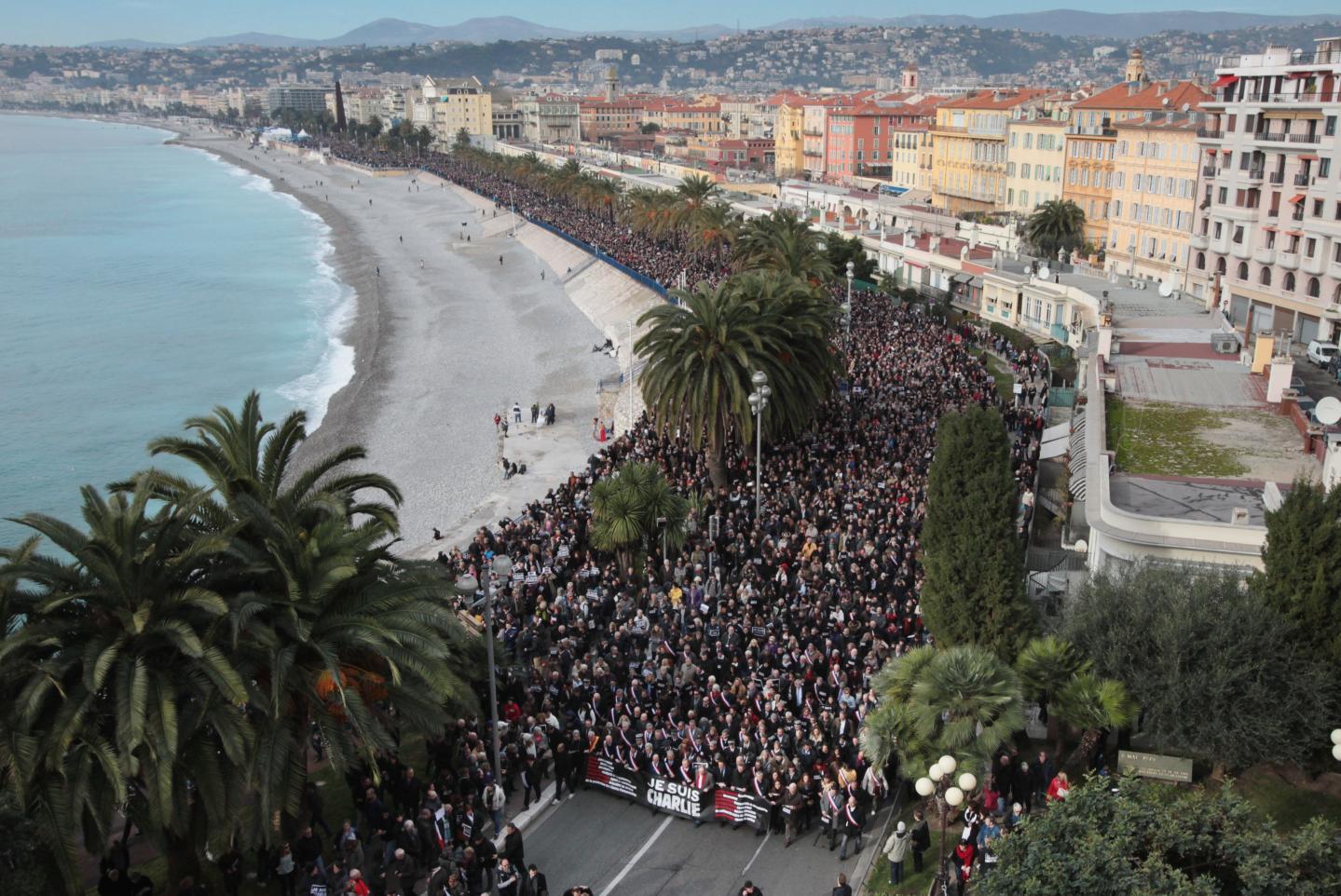 A Nice, sur la Promenade des Anglais, la foule était impressionnante.