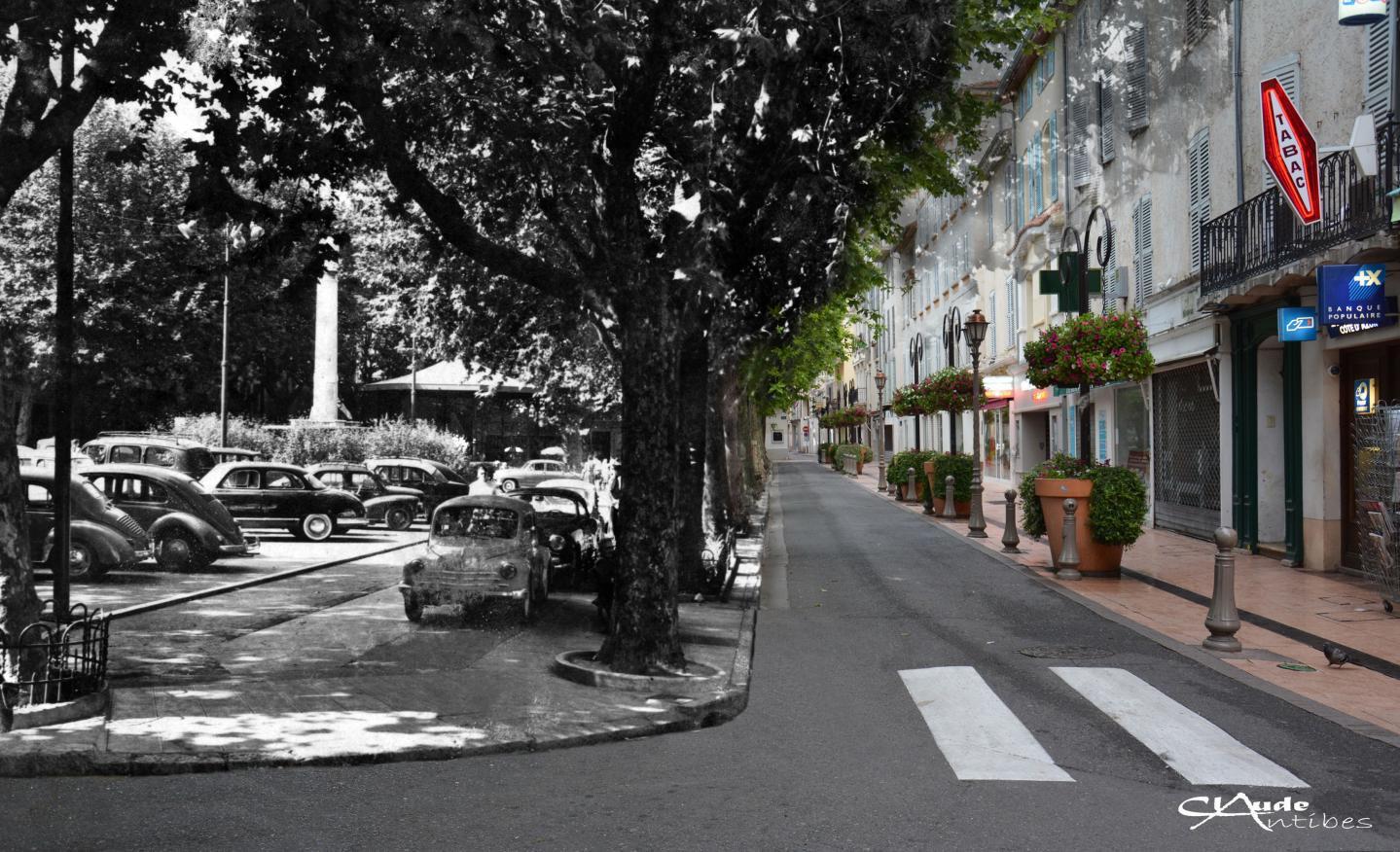 Place Nationale, années 1960. « Les arbres, ce sont toujours les mêmes », souligne Claude Antibes. Et ils doivent en avoir des choses à raconter depuis…