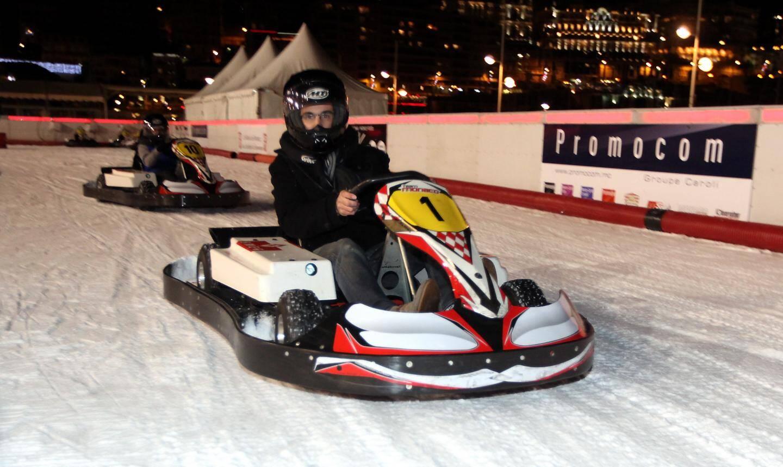 Trois fois par semaine, le kart devient le roi de la glace.