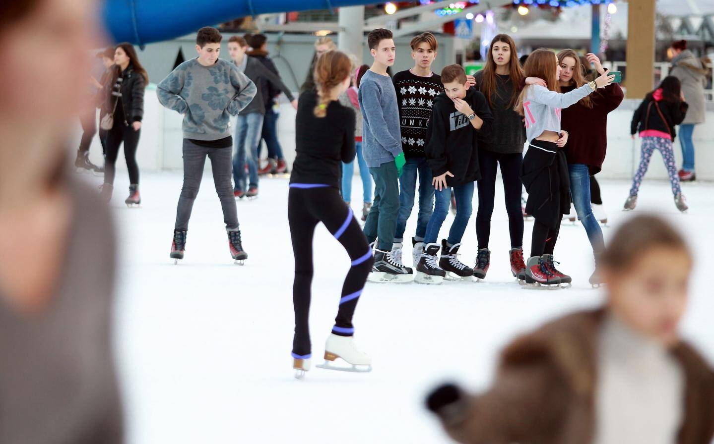 La patinoire est ouverte jusqu'au 28 février.