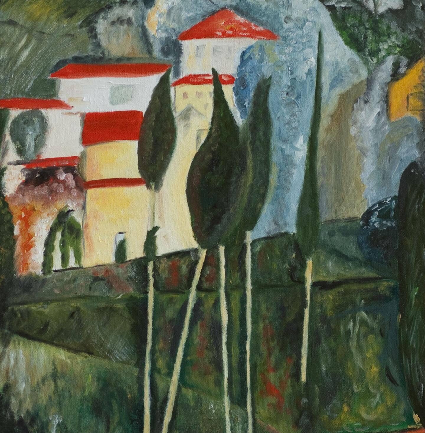 Paysage peint à Cagnes.
