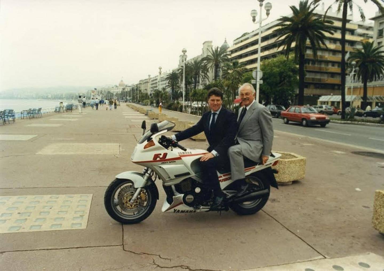 En 1988, Jacques Médecin et Christian Estrosi, à fond pour la campagne des législatives.